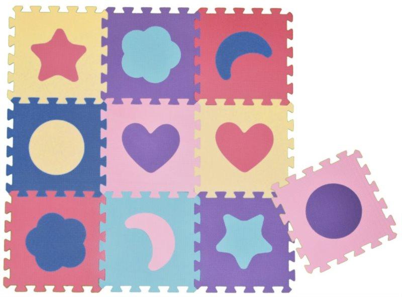 Pěnové puzzle - pěnový koberec - Tvary (díl 30x30cm)