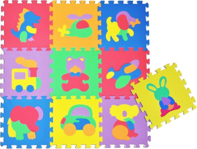 Pěnové puzzle - pěnový koberec, Zvířata a doprava I (díl 30x30cm)
