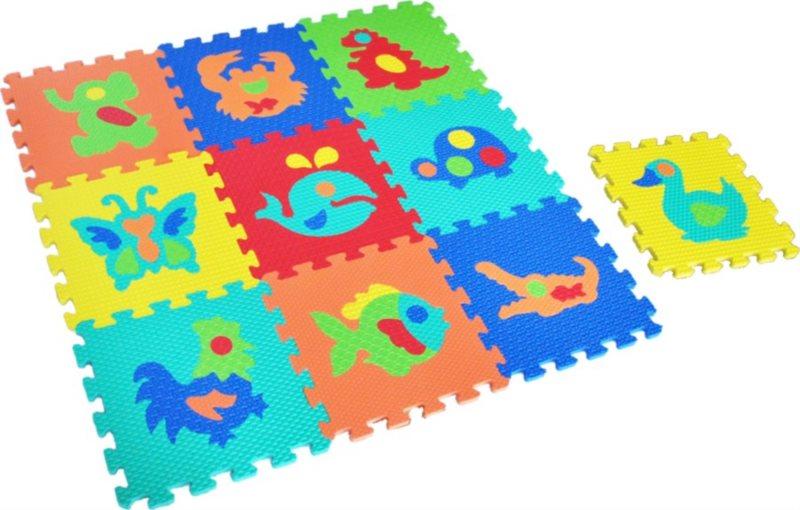 LC Pěnové puzzle struktura Zvířata (30x30)