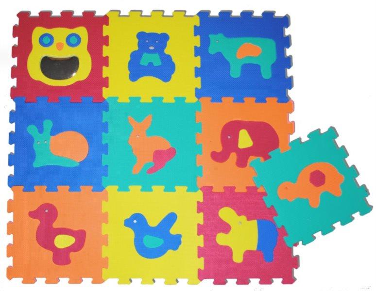 Pěnové puzzle Zvířátka se zrcátkem S4 (30x30)