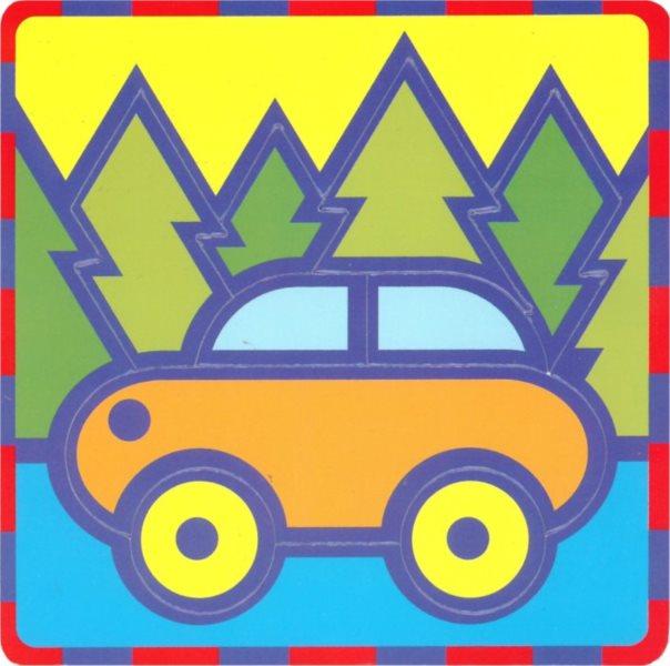 UMBUM Pěnové vkládací puzzle Auto