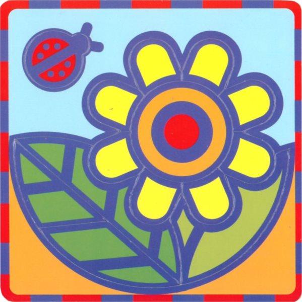 Pěnové vkládací puzzle UMBUM Kytka
