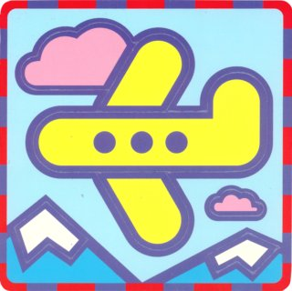 UMBUM Pěnové vkládací puzzle Letadlo