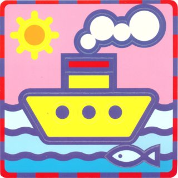 UMBUM Pěnové vkládací puzzle Loď