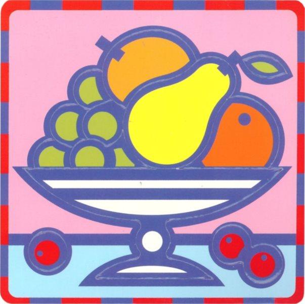 UMBUM Pěnové vkládací puzzle Mísa ovoce