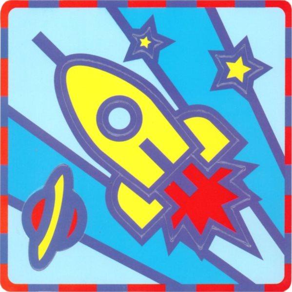 UMBUM Pěnové vkládací puzzle Raketa