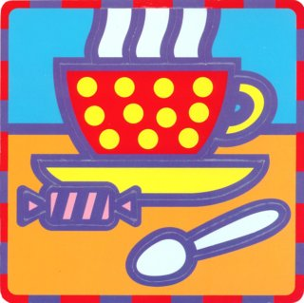 Pěnové vkládací puzzle UMBUM Šálek čaje