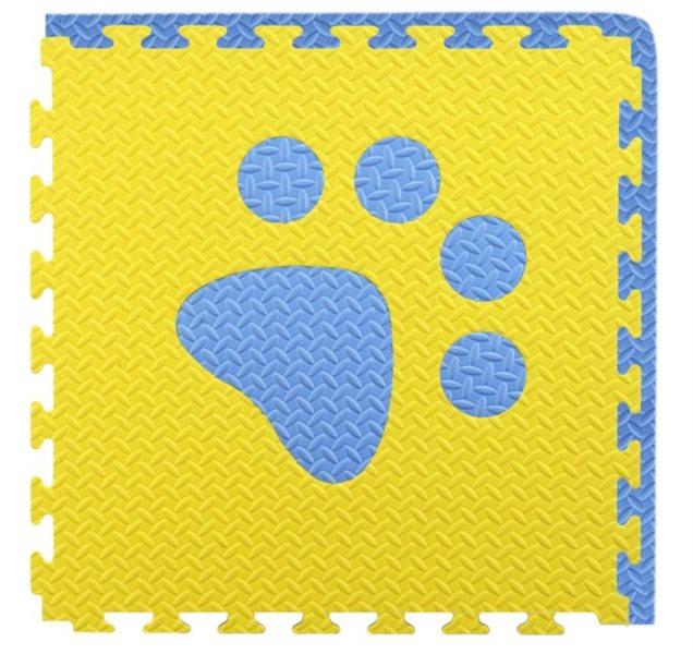 Pěnový BABY koberec - modrá,žlutá 1 díl