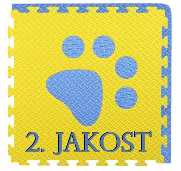 Pěnový BABY koberec - modrá,žlutá 1 díl (2.jakost)