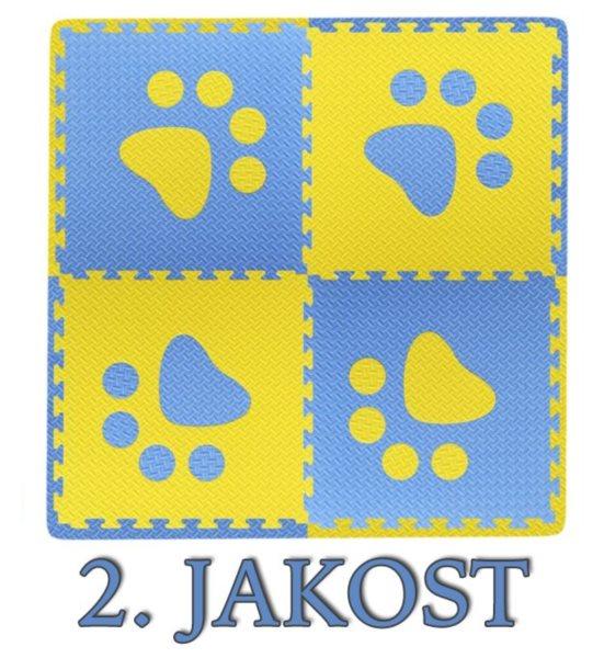 Pěnový BABY koberec s okraji - modro,žlutá (2.jakost)
