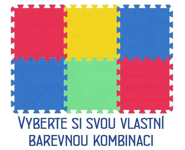 Pěnový koberec MALÝ GÉNIUS - MAXI 6 dílů, 8mm