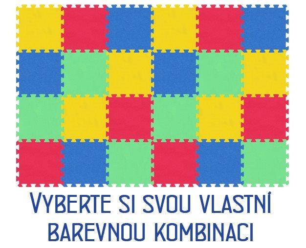 Pěnový koberec MALÝ GÉNIUS - MAXI 24 dílů, 8mm