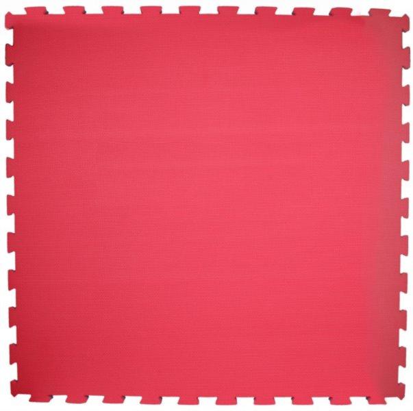 Pěnový koberec červená 100x100x3cm