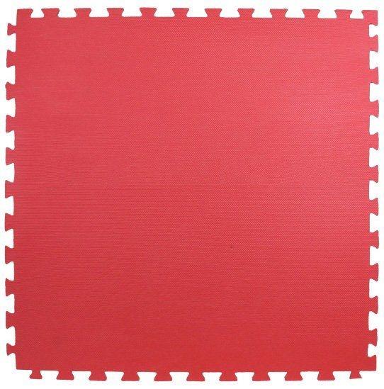 Pěnový koberec červená 100x100x4cm