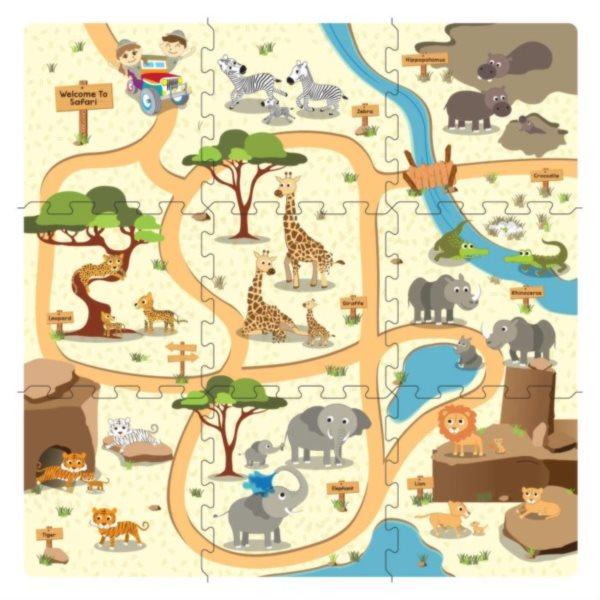 Pěnový koberec Cesta na safari