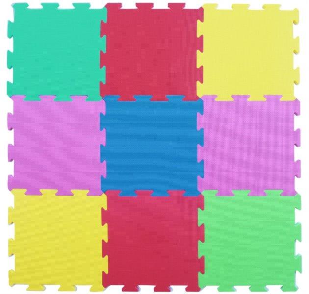 Pěnový koberec extra, 90x90, šestibarevný 0+