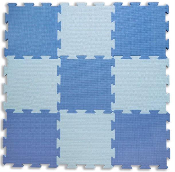 Pěnový koberec extra, 90x90, modrý 0+