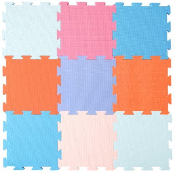 Pěnový koberec extra, 90x90, pastelový 0+