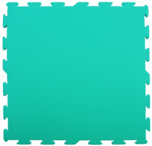 Pěnový koberec extra velký zelený - 1 díl 60x60cm