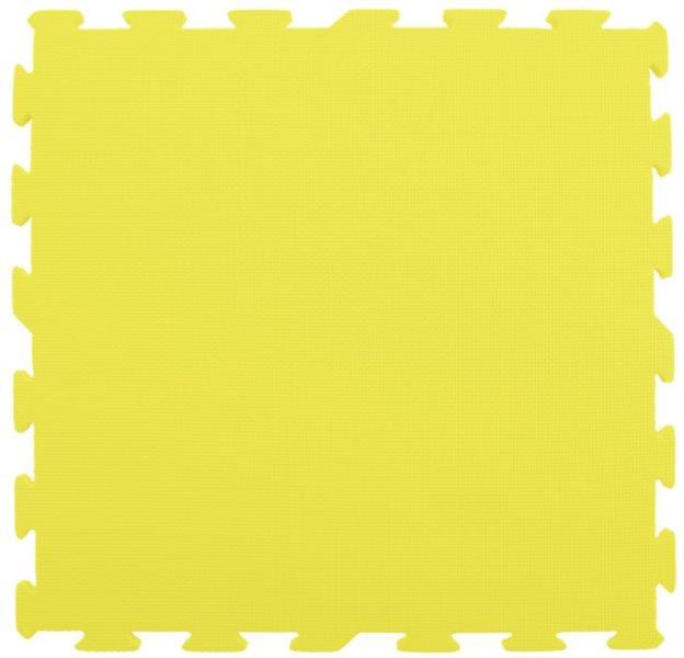 Pěnový koberec extra velký žlutý - 1 díl 60x60cm