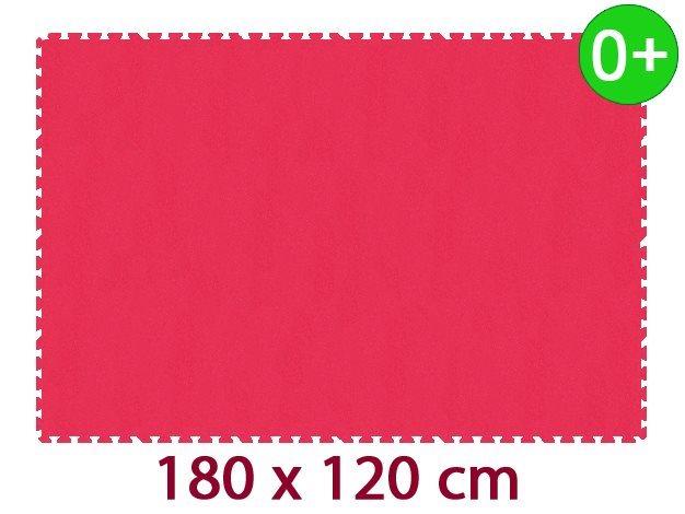 Pěnový koberec MALÝ GÉNIUS MAXI silný 0+ (červený)