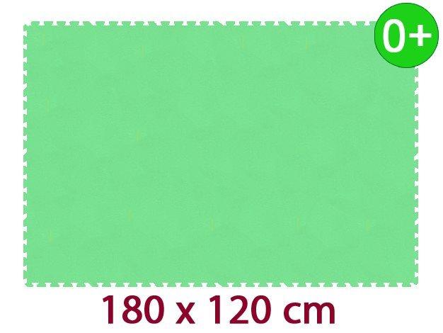 MALÝ GÉNIUS Pěnový koberec MAXI 24 silný 0+ (zelený)
