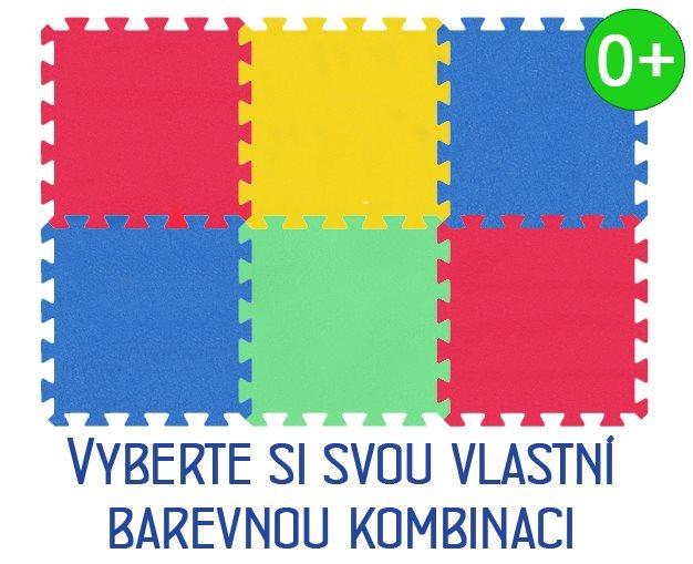 Pěnový koberec MALÝ GÉNIUS MAXI Geo 6 dílů, 16mm