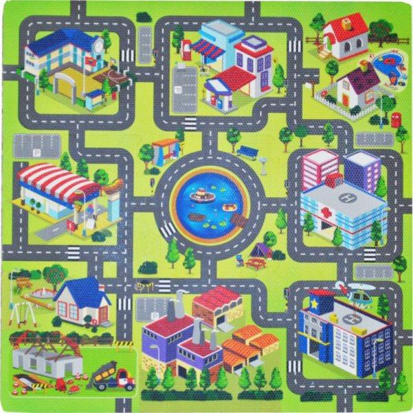 Pěnový koberec Město , silnice A