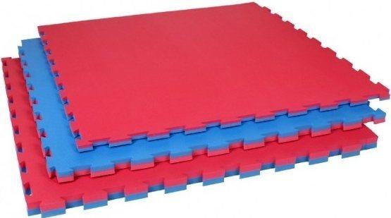 Pěnový koberec modrá,červená 100x100x4cm