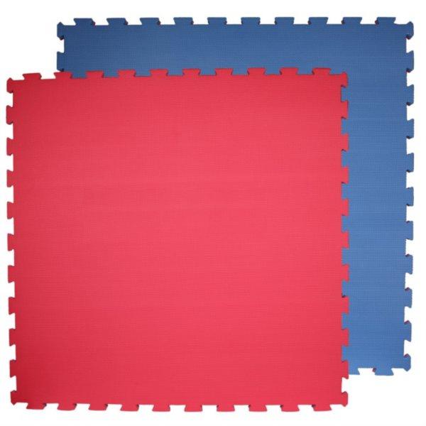 Pěnový koberec modrý,červený 100x100x2cm