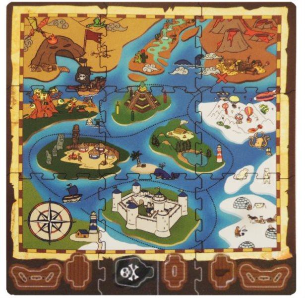 Pěnový koberec Pirátská mapa
