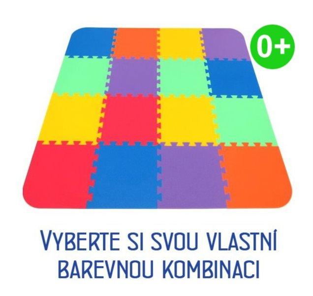 MALÝ GÉNIUS Pěnový koberec s okraji OPTIMAL silný 0+ (mix-6)