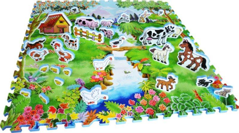 Pěnové puzzle, Pěnový koberec se zvířátky Dvorek