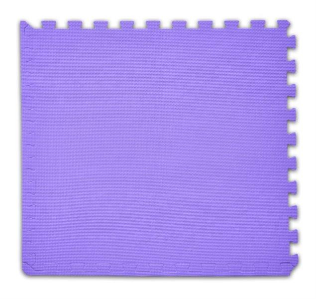 Pěnový koberec s okrajem fialový - tloušťka 2 cm