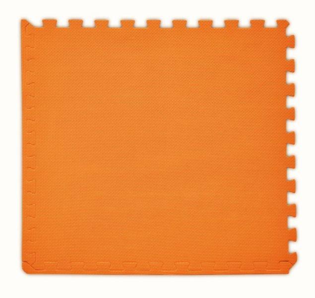 BABY Pěnový koberec tl. 2 cm - oranžový 1 díl s okraji
