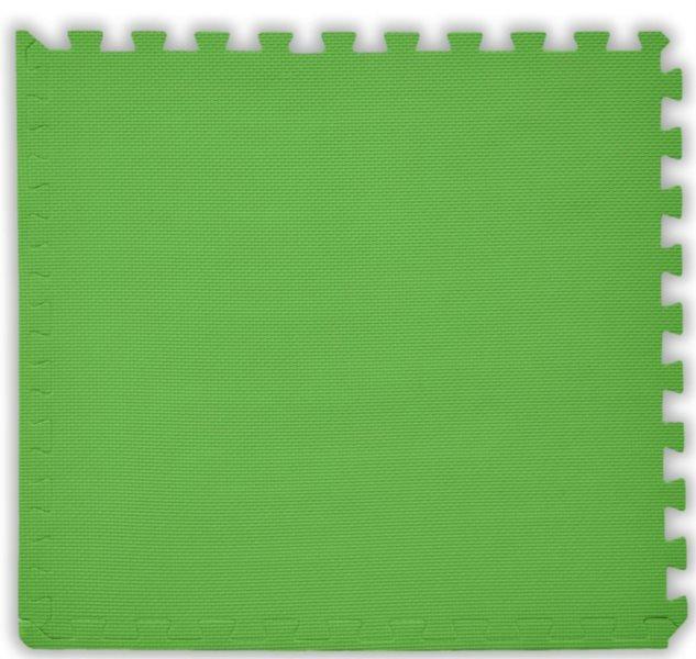 BABY Pěnový koberec tl. 2 cm - světle zelený 1 díl s okraji