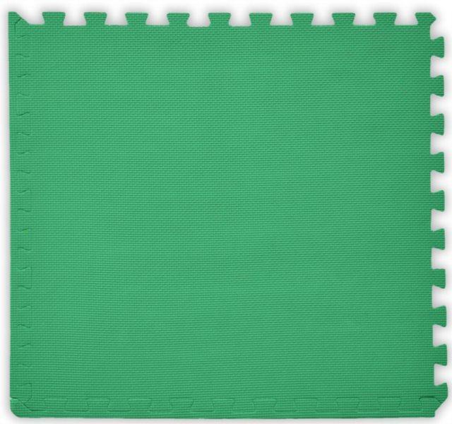 BABY Pěnový koberec tl. 2 cm - tmavě zelený 1 díl s okraji