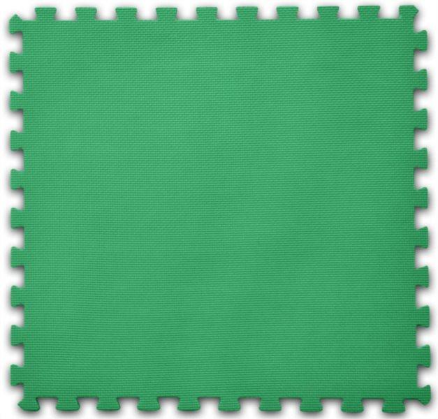 Pěnový koberec tmavě zelený - tloušťka 2 cm