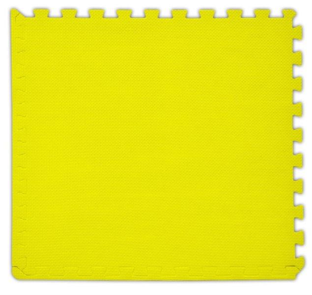 Pěnový koberec s okrajem žlutý - tloušťka 2 cm