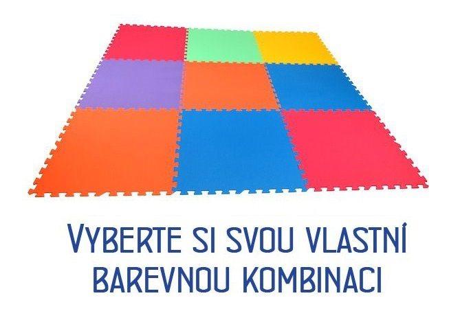 MALÝ GÉNIUS Pěnový koberec XL 9, 8mm (mix-6)