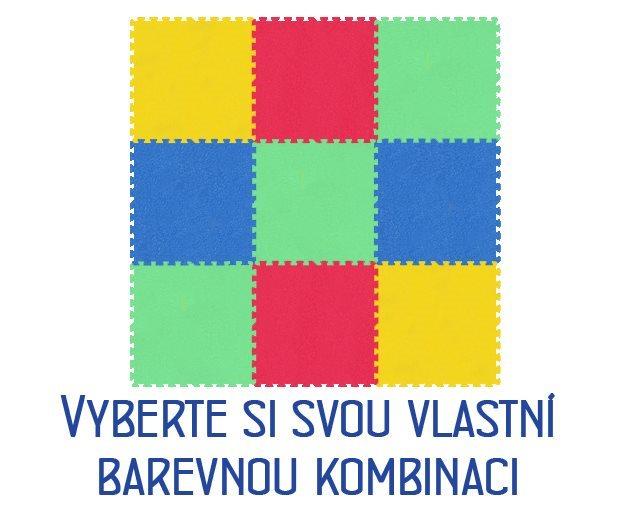 MALÝ GÉNIUS Pěnový koberec XL 8mm (59,5x59,5) mix-4