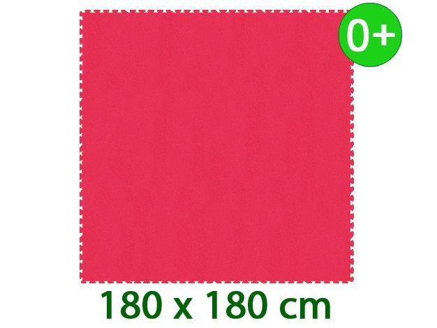 MALÝ GÉNIUS Pěnový koberec XL silný 0+ (červený)