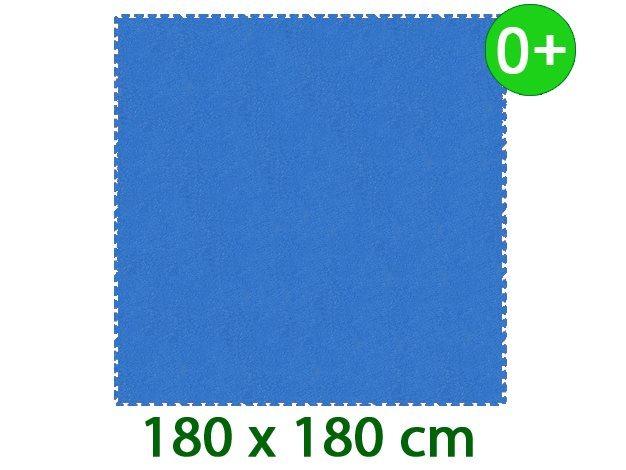 MALÝ GÉNIUS Pěnový koberec XL silný 0+ (modrý)