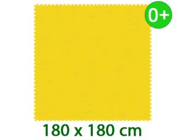 Žlutý pěnový koberec MALÝ GÉNIUS - XL 9 dílů 16mm (díl 60cm)