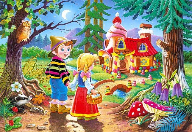 CASTORLAND Puzzle Perníková chaloupka - Jeníček a Mařenka 60 dílků