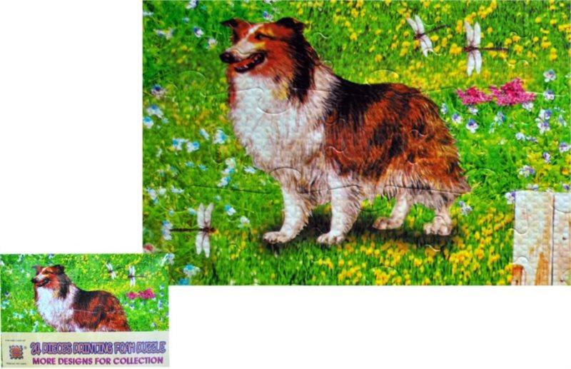 Pěnové puzzle 24 dílků - Pes