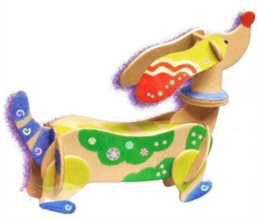 ARTLOVER 3D puzzle Pes jezevčík s barvičkami