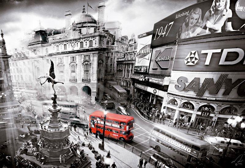 EDUCA poškozený obal: Puzzle Piccadily Circus, Londýn 1000 dílků