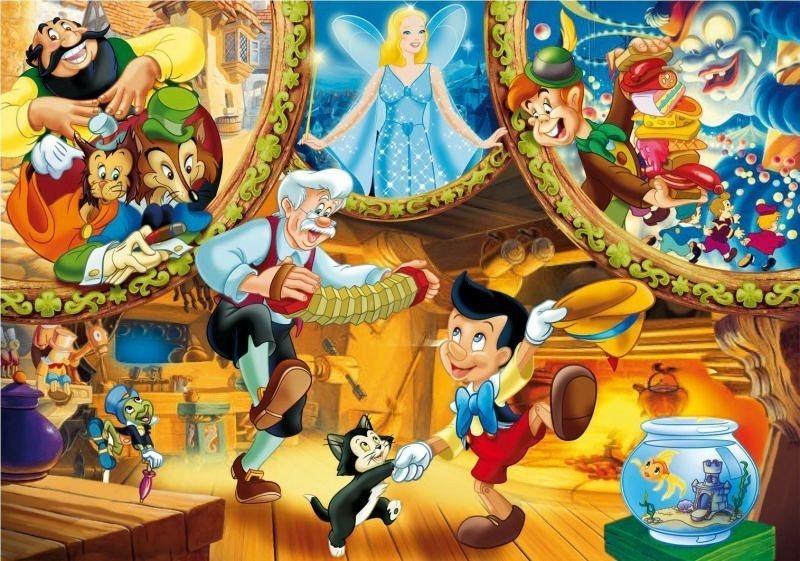 CLEMENTONI puzzle Pinokio Příběh 104 dílků