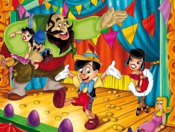 CLEMENTONI puzzle Pinokio Velké divadlo 60 dílků